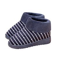 男士冬季棉拖鞋居家保暖加厚毛毛鞋情侣卧室全包跟带后跟防滑棉鞋