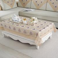 客厅茶几桌布布艺长方形现代简约中式方几圆几小圆桌台布桌垫新品 花色
