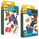 顺丰发货 英文原版First Words/Alphabet 54张单词字卡盒装2盒兰登出品 0-3-6岁幼儿启蒙认知早
