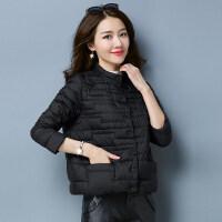 羽绒服女短款轻薄韩版个性口袋薄款时尚白鸭绒秋冬外套冬