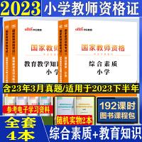 教资小学教师资格证考试用书2021全套 小学英语文数学小学教师资格证2021小学教师资格证考试真题试卷 中公教育广东河南
