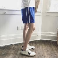 港风夏季男女沙滩裤韩版宽松薄款运动短裤条纹五分裤子休闲速干裤