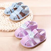 儿童手工凉鞋男女宝宝凉鞋婴幼儿布凉鞋夏季