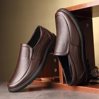 CUM 潮牌男士皮鞋透气中老年人软底防滑休闲男鞋中年爸爸老人鞋子秋季