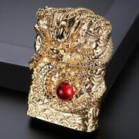 盔甲霸气神龙创意加重USB充电打火机点烟器精品礼盒