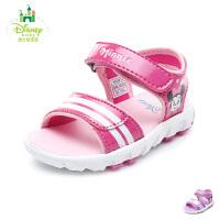 【99元任选3双】迪士尼Disney童鞋新款婴童米妮宝宝鞋女童学步鞋透气宝宝步前凉鞋(0-4岁可选)HS0912