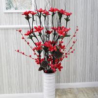 假花仿真花 客厅摆设室内摆件叶脉落地干花塑料花束装饰花艺插花