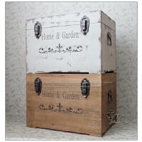 大号木箱复古做旧实木收纳箱家居装饰储物箱茶几箱