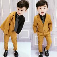 2儿童4男宝西装套装1-3岁小西服男宝宝7男童时尚潮衣帅气韩版绅士