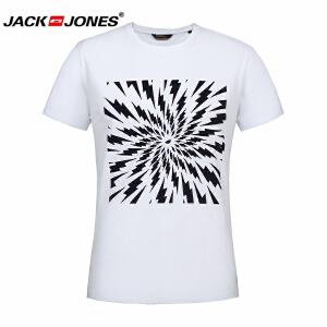 杰克琼斯/JackJones2017年夏季新品印花T恤--10-1-1-215301035020
