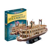 玩具手工DIY儿童 3D立体拼图拼装模型密西西比河蒸汽船