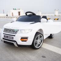 儿童电动车四轮汽车宝宝玩具车1-3岁童车3-5岁小孩遥控汽车可坐人 白色 双驱+自驾+遥控