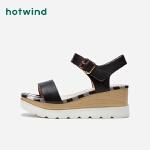 热风女士时尚坡跟凉鞋H55W9209