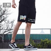 三枪利发国际lifa88裤男2018春夏新品纯棉毛圈兔斯基联名款全棉男短裤