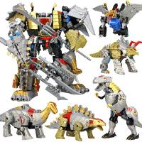 儿童变形恐龙金刚霸王龙模型五合体套装机器人男孩模型玩具