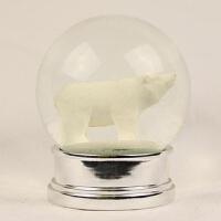 圣诞水晶球小熊白熊 摆件雪花飘雪旋转音乐盒厂家出口366 14.8*14.8*20