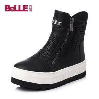 Belle/百丽专柜同款牛皮女靴BEA60DZ5