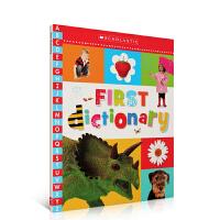 儿童英文绘本原版正品学乐专业出品 First Dictionary 第一本字典儿童图解字典鲜艳的实物插画启蒙入门阅读英