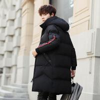 2018反季羽绒服男中长款韩版加厚青年连帽休闲男士冬季外套潮流