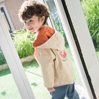 【尾品汇3件3折】童装2018秋季新款中小童男童两面穿韩版休闲风衣外套