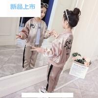女童春款2018新款春装韩版潮衣春季儿童装运动套装女孩衣服两件套