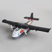 迷你声光回力水陆两用仿真玩具儿童救援小飞机合金飞机模型