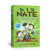 英文原版 Big Nate: The Crowd Goes Wild! 大家疯狂啦!全彩色插图漫画故事绘本 儿童课后阅