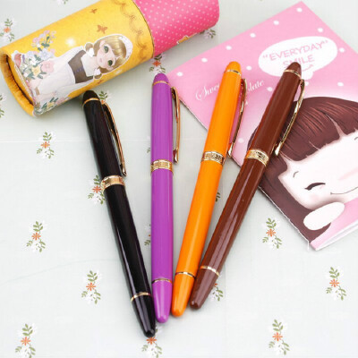 HERO英雄1603典雅商务钢笔学生办公练字书法铱金钢笔礼盒装墨水笔文具 全国专柜同步同款 品质有保障