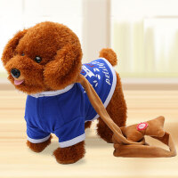 玩具狗狗走路会唱歌会动说话的儿童毛绒小泰迪女孩仿真电动小狗