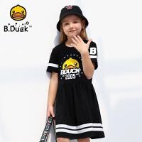 【4折价:119.6】B.Duck小黄鸭童装女童短袖连衣裙105-150 BF2080910