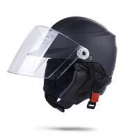 摩托车头盔装备护具秋冬半盔电动电瓶车男女士防寒挡风轻便式