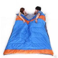 户外睡袋双人豪华情侣棉睡袋 春秋冬季加厚露营睡袋