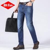 Lee Cooper男士牛仔裤直筒裤夏季新款商务绅士百搭裤子宽松耐磨男士牛仔裤