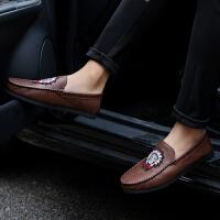 DAZED CONFUSED 潮牌春季新款男士休闲鞋个性百搭皮鞋英伦潮鞋豆豆鞋潮男鞋子