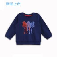 童装男童长袖T恤2018春装新款宝宝T恤纯棉印花上衣1-3岁