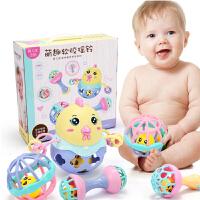 新生婴儿手摇铃玩具 0-3-6个月宝宝摇铃铃铛牙胶益智0-1周岁礼物