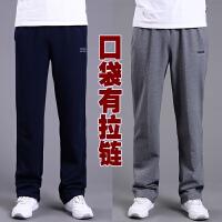 秋款运动裤男长裤直筒宽松大码纯棉休闲裤加绒加厚针织卫裤 6X