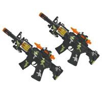 20190701154100993儿童玩具枪1-2-3岁男孩电动声光音乐小号套装宝宝声音灯光枪 配电池