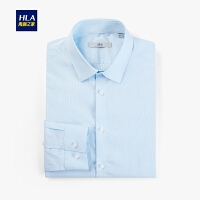 HLA/海澜之家时尚清爽长袖衬衫2020春季新品绅士微弹正装长衬男
