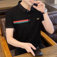 POLO短袖 2021夏季新款男款韩版潮流衬衫领POLO衫短袖 163男装
