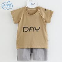 2021新款男童纯棉薄款儿童两件套网红宝宝洋气婴儿分体短袖套装夏装季潮
