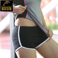 渔民部落 运动短裤女士夏季跑步健身速干三分裤弹力显瘦瑜伽训练裤-DD168207
