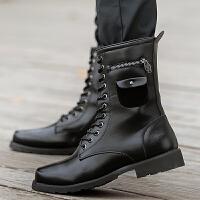秋冬季男士马丁靴男靴子英伦长筒靴皮靴高帮皮鞋休闲鞋潮