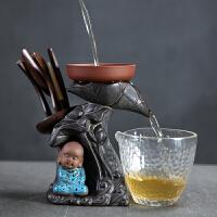 创意小和尚陶瓷茶漏滤泡茶叶过滤器网功夫茶具道配件六君子