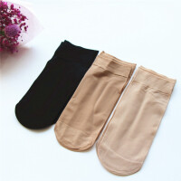 20双春夏防勾丝钢丝袜子短筒耐磨防滑男女短丝袜不脱丝天鹅绒面膜
