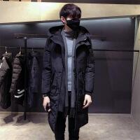 外套男士冬季棉衣男中长款2018新款韩版潮流帅气棉袄青年冬装