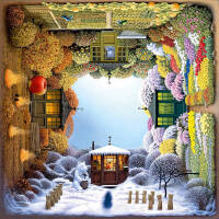 【现货】Schmidt 德国进口拼图 旋转的四季花园 1000片 益智拼图