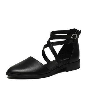 Teenmix/天美意2017春专柜同款牛皮女凉鞋6T531AK7