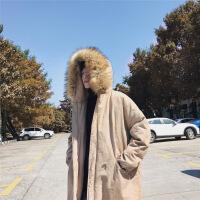 男士冬季外套2018新款韩版潮流冬装加厚工装棉衣男中长款棉袄