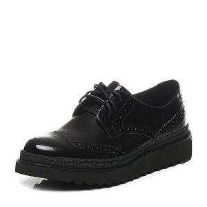 Teenmix/天美意2017春季专柜同款小牛皮女单鞋6ZW23AM7